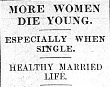 1927: More Women Die Young